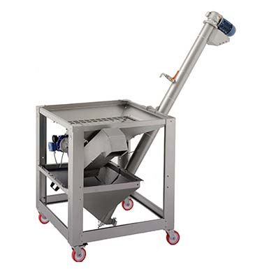 Lavadora, deshojadora y transportadora de oliva hasta el molino de aceite.