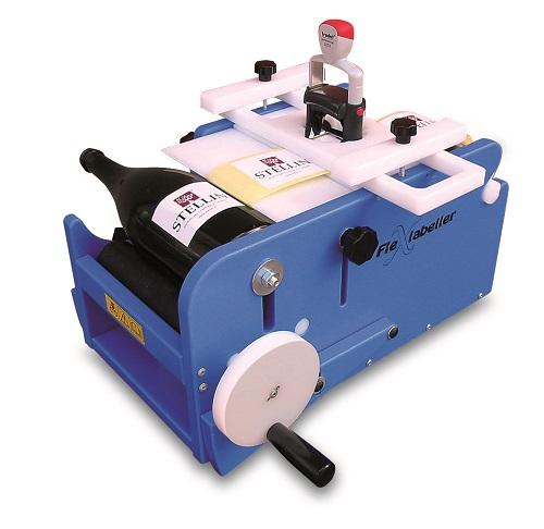 Etiquetadora manual con sistema de manivela rotatoria